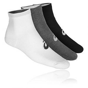 Asics 3PPK Quarter Sock White Grey Black 43-46