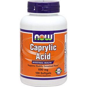 Now Foods caprylique 600 mg - 100 capsules