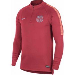 Nike Haut de football à manches longues FC Barcelona Dri-FIT Squad Drill pour Homme - Rose - Taille XL