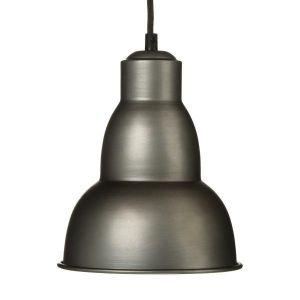 Atmosphera Suspension lustre en métal - Esprit industriel - Coloris GRIS