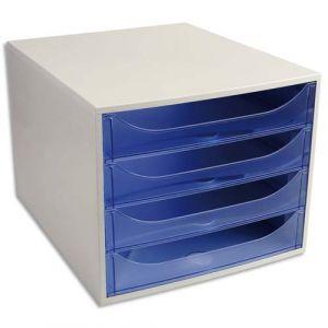 Exacompta 228610D - Ecobox Linicolor, coloris gris/bleu glacé transparent