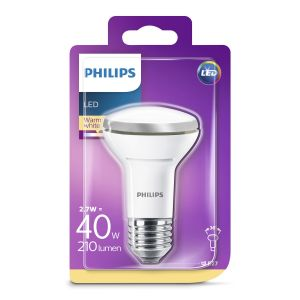 Philips Lighting 8718696811573 LED R63 Verre 3-40W E27 WW 36D 1BC/6, 3 W, Argent
