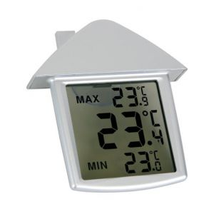 Velleman TA25 - Thermomètre de fenêtre transparent avec indications min/max
