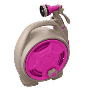 Jardibric Mini dévidoir portable avec tuyau 10 m