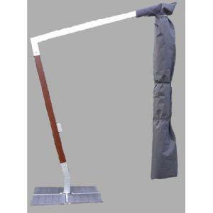 Pegane Housse de protection pour parasol bois/alu déporté Dim : 310 x 60cm