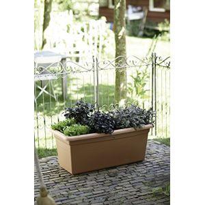 Elho Jardinière Green basics jardin XXL couleur Terre cuite - 28 litres