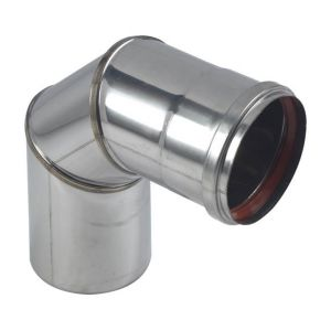 Ten Coude EQ90° inox 316 4/10 O80 + joint a levres