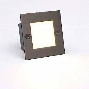 Qazqa Applique LED encastrée LED lite carré blanc 7 cm