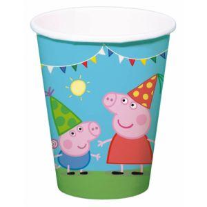 8 gobelets en carton Peppa Pig