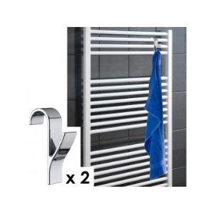 Wenko 4468162100 - 2 crochets pour radiateur sèche serviette