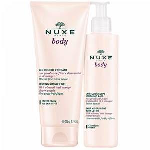 Nuxe Body lait fluide corps hydratant 24 h + gel douche fondant