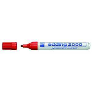 Edding 10 marqueurs 2000 permanent encre rouge pointe ogive