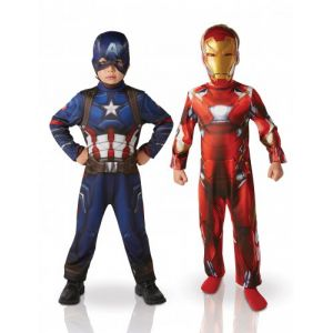 Pack déguisements Iron Man & Captain America enfant Civil War