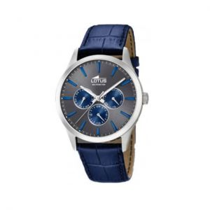 Lotus Montre Homme Multifonction Acier Cuir Bleu 18576/3