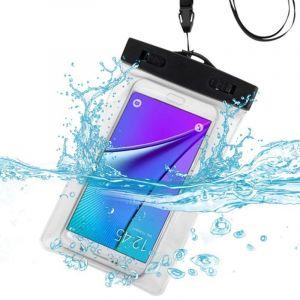 Coque Housse Pochette Étui De Protection Étanche & Imperméable Waterproof Blanc/Transparent + Brassard Et Dragonne Pour Iphone 4s/5/5c/5s/6/6s, Ipod Touch 5 Et 6, Samsung Galaxy S4/S5/S6/S6 Edge Plus