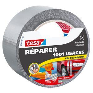 Tesa Ruban de réparation universel gris