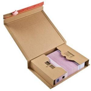 Mailmedia CP 020.17 - Carton d'expédition ColomPac, dim. 380 x 290 x -80 mm intérieur