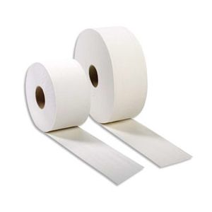 HYGIENE Colis de 6 Bobines de papier toilette 2 plis blanc Longueur 320 metres x D26 cm, mandrin D6 cm
