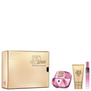 Paco Rabanne LADY MILLION EMPIRE Coffret 50ml Eau De Parfum, 10ml EDP & 75ml Lotion Pour Le Corps