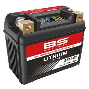 BS Battery Batterie Lithium BSLi-02 (YTZ5S-YTZ7S-YTX4LBS-YTX5LBS-YTX7LBS)