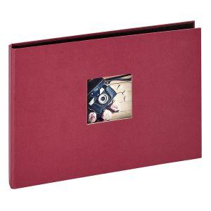 Panodia Album photos traditionnel Studio - 120 vues - 40 pages - Rouge framboise