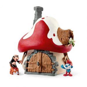 Schleich 20803 - Maison des Schtroumpfs avec 2 figurines