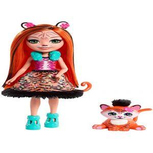 Mattel Enchantimals - Mini poupée et Animal - Tanzie Tigre