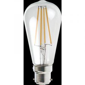 Lampesecoenergie Ampoule Led Filament ST64 Style Edison Teardrop 7 watt (eq.52 watt) Culot E27