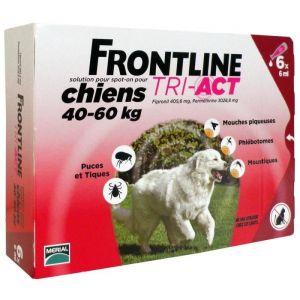 Frontline Tri Act Chiens XL 40-60 kg Boite de 6 Pipettes
