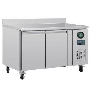 Polar Table réfrigérée négative 2 portes avec dosseret 282L