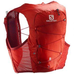 Salomon Active Skin 8 Kit sac à dos, valiant poppy/red dahlia S Vestes & Ceintures d'hydratation