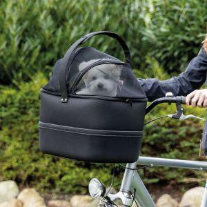 Trixie Panier avant de vélo pour animaux de compagnie 41x47x29 cm Noir