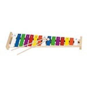 Goki Xylophone à 15 lames en métal multicolor