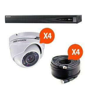 Hik vision HIK-4DOM-THD - Kit vidéosurveillance Turbo HD avec 4 caméras dôme N°1