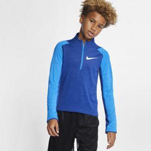 Nike Haut de runningà manches longues et demi-zip Dri-FIT pour Garçon plus âgé - Bleu - Taille S - Male