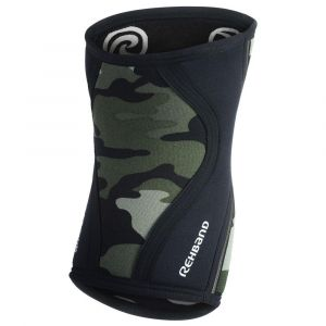 Rehband Protecteurs articulations Rx Knee Sleeve 7 Mm - Camo / Black - Taille L