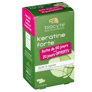Biocyte Keratine Forte anti-chute et volumateur - Lot de 3 x 40 gélules