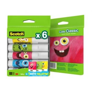 Scotch Lot de 6 bâtons de colle + 1 boîte Monster Box -