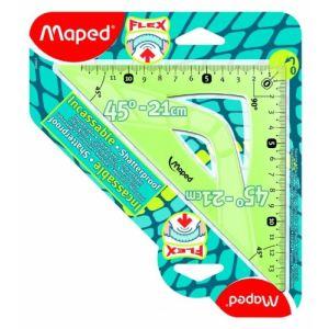 Maped Équerre 45° Incassable Flex en plastique 21 cm