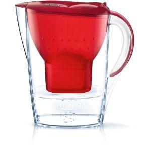 Brita Carafe Filtrante, Marella, 2.4L, 1 Cartouche Filtrante MAXTRA+ incluse - Rouge