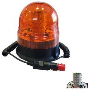Ludi 52375 Gyrophare 6 Fonctions à LED Magnétique, Orange, 12-24 V