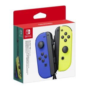 Nintendo Paire de Manettes Joy-Con Gauche Bleue/Droite Jaune Néon
