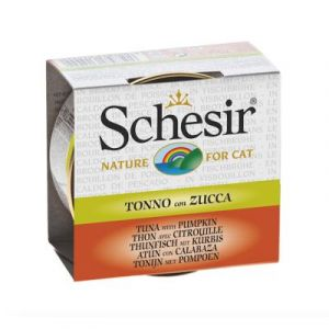 Schesir Thon avec Citrouille pour chat 14 x 70 g