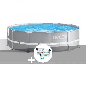 Intex Kit piscine tubulaire Prism Frame ronde 3,66 x 1,22 m + Kit de traitement au chlore
