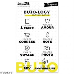 Kesi'art Tampon transparent pour bullet journal - Bujo Logy - A faire - 8 pcs