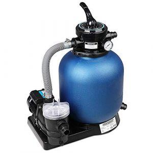 Deuba Monzana Pompe Filtre à Sable 10.200 L/h avec préfiltre Système de Filtration Eau Piscine