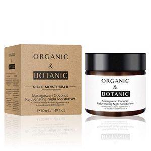 Organic & Botanic Crème de nuit hydratante régénératrice - Noix de coco de Madagascar - 50 ml