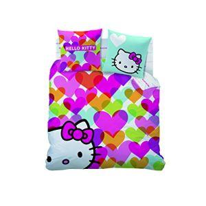 Cti Hello Kitty Mimi Love - Housse de couette avec 2 taies 100% coton (220 x 240 cm)