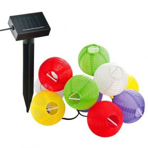 Guirlande solaire 10 lampions multicolores - P. OUTILLAGE