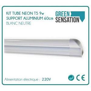 Desineo Kit Tube Néon T5 sur support aluminium 60cm éclairage LED économique